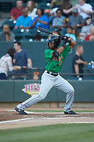 Leody Taveras (3) of the Down East Wood Ducks at bat against the Winston-Salem Dash at BB&T Ballpark on May 10, 2019 in Winston-Salem, North Carolina. The Wood Ducks defeated the Dash 9-2. (Brian Westerholt/Four Seam Images)