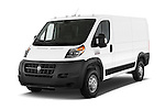 2014 Ram Promaster 1500 136 WB Low Roof 3 Door Cargo Van Angular Front stock photos of front three quarter view