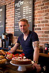 May0067865 . Daily Telegraph<br /> <br /> Features<br /> <br /> Irish pop star Ronan Keating photographed in a coffee shop he part owns in Putney .<br /> <br /> London 27 January 2016