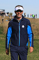 Raphael Jacquelin (Team Europe) during Saturday Foursomes at the Ryder Cup, Le Golf National, Ile-de-France, France. 29/09/2018.<br /> Picture Thos Caffrey / Golffile.ie<br /> <br /> All photo usage must carry mandatory copyright credit (&copy; Golffile | Thos Caffrey)