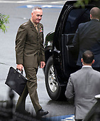 United States Marine Corps General General Joseph F. Dunford, Jr., Chairman of the Joint Chiefs of Staff, departs a meeting at the White House in Washington, DC that included US Deputy Attorney General Rod Rosenstein on Monday, September 24, 2018.<br /> Credit: Ron Sachs / CNP<br /> (RESTRICTION: NO New York or New Jersey Newspapers or newspapers within a 75 mile radius of New York City)