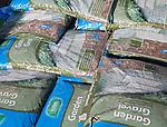 Large bags of garden gravel