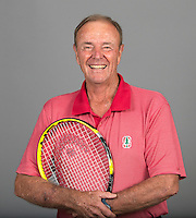 STANFORD, CA - AUGUST 15, 2014-Dick Gould, the John L. Hinds Director of Tennis with the Stanford Athletic department.