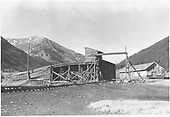 Ore loading chute at Silverton, quite near the depot.<br /> D&amp;RGW  Silverton, CO  7/1971