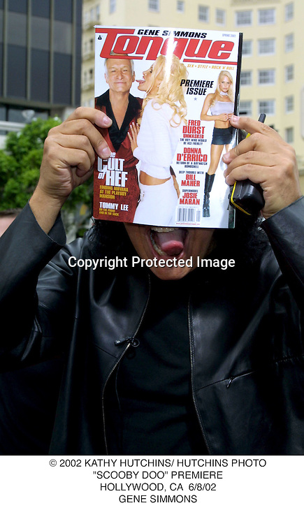 "© 2002 KATHY HUTCHINS/ HUTCHINS PHOTO.""SCOOBY DOO"" PREMIERE.HOLLYWOOD, CA  6/8/02.GENE SIMMONS"