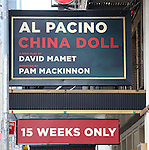 Al Pacino in 'China Doll' - Theatre Marquee