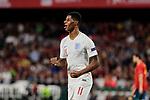 England's Marcus Rashford celebrates goal during UEFA Nations League 2019 match between Spain and England at Benito Villamarin stadium in Sevilla, Spain. October 15, 2018. (ALTERPHOTOS/A. Perez Meca)