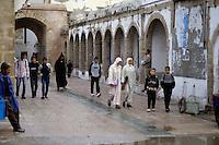 Essaouira, Morocco - Street Scene, School Children
