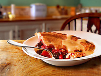 British Food - Fruit pie & Custard