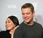 Hong Chau and Matt Damon attend 'Downsizing' photo call during the 2017 Toronto International Film Festival at Tiff Lightbox on September 10, 2017 in Toronto, Canada.