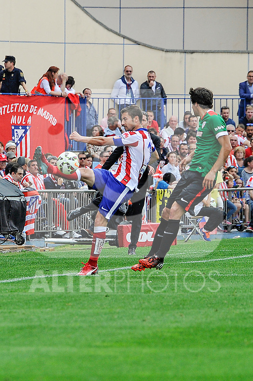 Atletico de Madrid´s Gabi during 2014-15 La Liga match between Atletico de Madrid and Athletic Club at Vicente Calderon stadium in Madrid, Spain. May 02, 2015. (ALTERPHOTOS/Luis Fernandez)