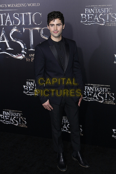 NEW YORK, NY - NOVEMBER 10: Max Ehrich at the World Premiere of Fantastic Beasts and Where to Find Them at Alice Tully Hall on November 10, 2016 in New York City.   <br /> CAP/MPI/DIE<br /> &copy;DIE/MPI/Capital Pictures