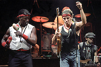 Legendary rock star and icon Bruce Springsteen performs  with Clarence Clemons.
