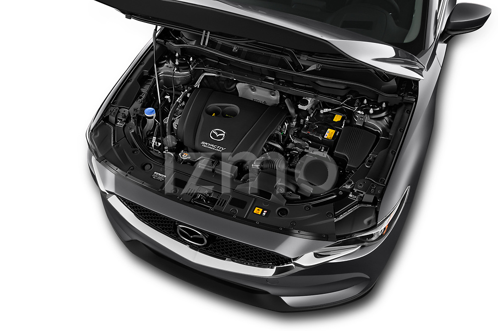 Car Stock 2017 Mazda CX-5 Grand-Touring 5 Door SUV Engine  high angle detail view