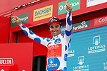 Luis Angel Mate Mardones (ESP) Cofidis retains the Polka Dot Jersey at the end of Stage 12 of the La Vuelta 2018, running 181.1km from Mondonedo to Faro de Estaca de Bares. Manon, Spain. 6th September 2018.<br /> Picture: Unipublic/Photogomezsport | Cyclefile<br /> <br /> <br /> All photos usage must carry mandatory copyright credit (&copy; Cyclefile | Unipublic/Photogomezsport)