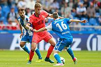 Deportivo de la Coruna's Bruno Gama (l) and Luisinho Correia (r) and Real Sociedad's Adnan Januzaj during La Liga match. September 10,2017.  *** Local Caption *** © pixathlon<br /> Contact: +49-40-22 63 02 60 , info@pixathlon.de