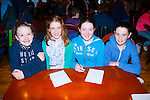 Top marks<br /> ---------------<br /> Listowel quiz team L-R Aoife O'Sullivan,Niamh McAuliffe,Clodagh O'Sullivan&amp;Nora Keane