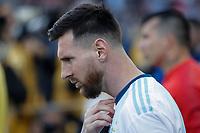 SÃO PAULO, SP 06.07.2019: ARGENTINA-CHILE - Messi. Argentina e Chile durante partida válida pela disputa do terceiro lugar da Copa América Brasil 2019, que acontece na Arena Corinthians, zona leste da capital paulista na tarde deste sábado (06). (Foto: Ale Frata/Código19)