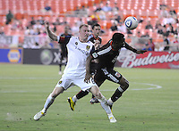 DC United forward Luciano Emilio (11) gets fouled by Real Salt Lake defender Nat Borchers (6)  DC United defeated Real Salt Lake 2-1 to advance to the round of 16 of the  U.S. Open Cup at RFK Stadium, Wednesday  June 2  2010.