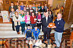 Participants of Castleisland Parish presented with Certificates after completing the course in CPR and AED.Pictured also demonstrating were DJ Fealy,Greg Curran,and Fr Dan O'Riordan was presented with a new Defibrillator by Eamon O'Connor (Irish Heart Foundation Trainer) at St Stephen and St John church Castleisland on Tuesday