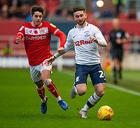 Preston North End's Sean Maguire (right) vies for possession with Bristol City's Liam Walsh (left) <br /> <br /> Photographer David Horton/CameraSport<br /> <br /> The EFL Sky Bet Championship - Bristol City v Preston North End - Saturday 10th November 2018 - Ashton Gate Stadium - Bristol<br /> <br /> World Copyright &copy; 2018 CameraSport. All rights reserved. 43 Linden Ave. Countesthorpe. Leicester. England. LE8 5PG - Tel: +44 (0) 116 277 4147 - admin@camerasport.com - www.camerasport.com