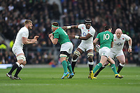 Jonathan Sexton of Ireland, FEBRUARY 27, 2016 - Rugby : Jonathan Sexton of Ireland is targeted by Maro Itoje and Dan Cole of England as George Kruis of England looks on during the RBS 6 Nations match between England and Ireland at Twickenham Stadium, London, United Kingdom. (Photo by Rob Munro)