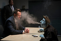 Leslie David Baker and Joel McHale<br /> The Happytime Murders (2018) <br /> *Filmstill - Editorial Use Only*<br /> CAP/RFS<br /> Image supplied by Capital Pictures