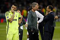 Gianluigi Buffon of Juventus looks dejected after the UEFA Champions League Final match between Juventus and Real Madrid at the Principality Stadium on June 3rd 2017 in Cardiff, Wales. <br /> <br /> Foto Daniel Chesterton / Panoramic / Insidefoto