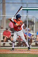 Nathaniel LaRue during the WWBA World Championship at the Roger Dean Complex on October 19, 2018 in Jupiter, Florida.  Nathaniel LaRue is a catcher from Mobile, Alabama who attends McGill-Toolen Catholic School and is committed to Auburn.  (Mike Janes/Four Seam Images)