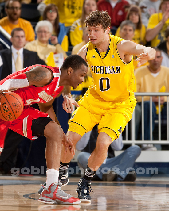The University of Michigan men's basketball team beat Ohio State University, 56-51, at Crisler Center in Ann Arbor, Mich., on February 18, 2012.