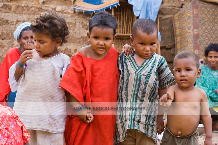 Group of Touareg children in the neighborhood of Hamdallaye in Ouagadougou, Burkina Faso.