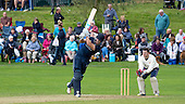 Image courtesy of Cricket Scotland - Citylets Scottish Cup Final at West of Scotland CC - Arbroath V Clydesdale - Arbroath's Fraser Burnett hits out to make runs - for further information please contact Ben Fox, Cricket Scotland, on 07825 172 348 - picture by Donald MacLeod - 21.08.16 - 07702 319 738 - clanmacleod@btinternet.com - www.donald-macleod.com