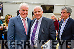 Jimmy Deenihan and Fine Gael Director of Elections at the Kerry General Election Count in Killarney.