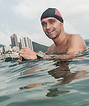 Swimers in action during The Clean Half Open Water Challenge 2012 in Hong Kong on 6 October 2012. Photo by Juan Manuel Serrano / The Power of Sport Images