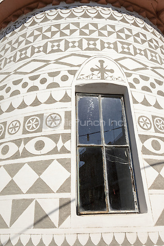 Exterior wall, Dormition of the Virgin Mary Church, (Assumption of Mary Orthodox Church), Pyrgi, Chios, Greece <br /> CAP/MEL<br /> &copy;MEL/Capital Pictures /MediaPunch ***NORTH AND SOUTH AMERICA ONLY***