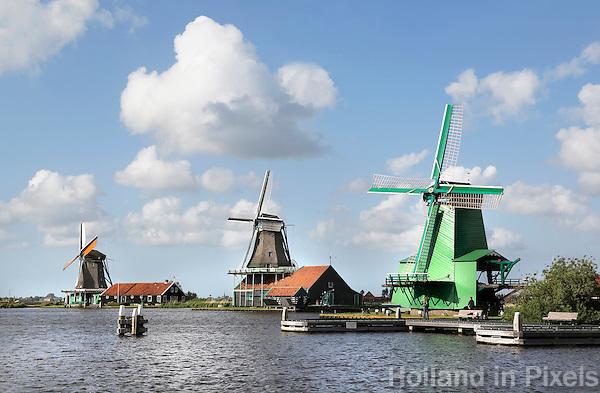 The Netherlands, Zaanse Schans, 2015 06 03. Mills in Zaanse Schans