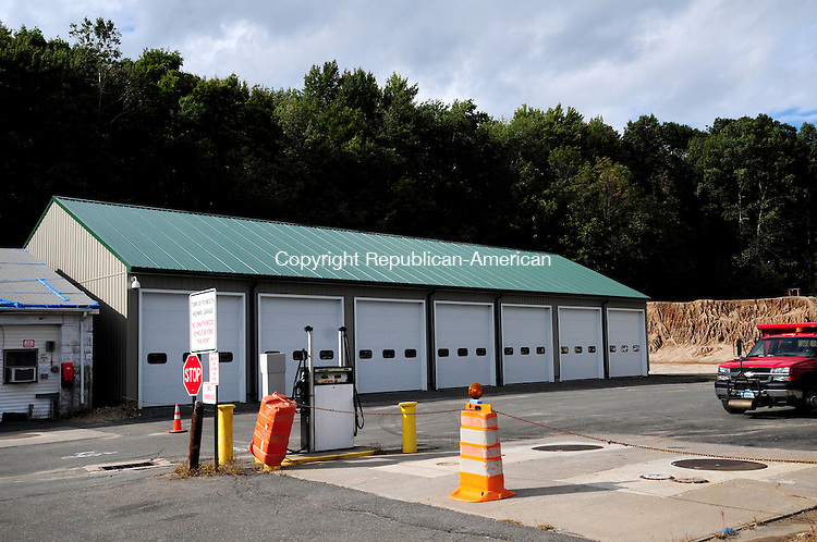 PLYMOUTH, CT, 20 SEPT 12-092012AJ01- The town received two bids on Thursday from contractors seeking to build the next phase of a new town garage facility for the public works department off Hillside Drive in Terryville. Alec Johnson / Republican-American