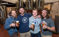 The four directors at the new London Road Refined Fool Brewing Company taproom are from left: Nathan Colquhoun, Tony Alexander, Brandon Huybers, and Matthew Barnes.