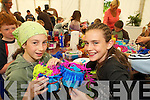 CRAFTS: Ciara.Stein, Gortatlea,.Ballymacelligott,.and Claire.McCarthy, Ashill,.Ballymacelligott,.doing crafts at.Feile na mBlath in.Tralee Town Park.on Friday.