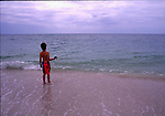 Boy fishing on Sanibel Island