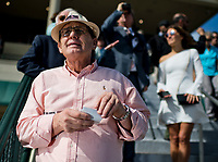 HALLANDALE BEACH, FL - JANUARY 27: A man looks at his betting slips in anticipation of the winner of the first race on Pegasus World Cup Invitational Day at Gulfstream Park Race Track on January 27, 2018 in Hallandale Beach, Florida. (Photo by Scott Serio/Eclipse Sportswire/Getty Images)