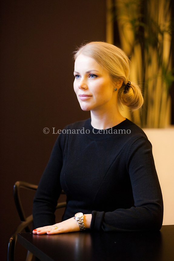 Hanna Lindberg is a journalist and author from Stockholm, Sweden, born in 1981. Her first novel, STHLM Confidential is a contemporary thriller set among the glitzy gourmet restaurants and a magazine world in decline. The book is about the quest for celebrity and love in contemporary Stockholm. Milan 1 febbraio 2019. © Leonardo Cendamo
