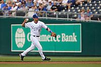 Royals second baseman Mark Grudzielanek in action against Seattle at Kauffman Stadium in Kansas City, Missouri on May 26, 2007.  The Mariners won 9-1.