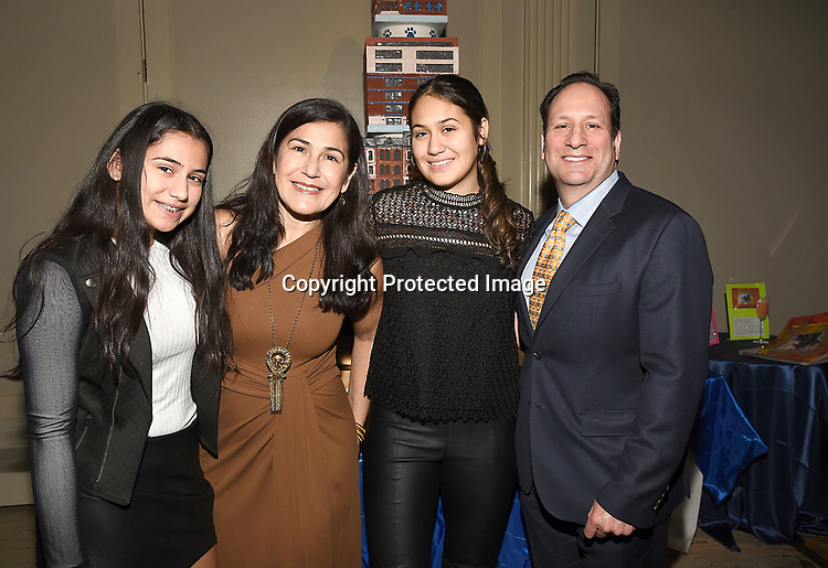 Janarth Duque Sachs and her family  attend the Columbia Grammar & Prep School 2017 Benefit on March 8, 2017 at Cipriani Wall Street in New York, New York.