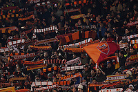 Roma's Supporters   during the Champions League Group E soccer match between As Roma and Manchester City  at the Olympic Stadium in Rome December 10 , 2014.