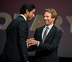 Adam Rodriguez and Jerry Bruckheimer during the opening ceremony of the 54th Monte Carlo TV Festival at the Grimaldi Forum on June 7, 2014 in Monte-Carlo, Monaco.