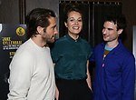 "Jake Gyllenhaal, director Carrie Cracknell and Tom Sturridge during ""Sea Wall/A Life"" Cast Photo Call at Dream Hotel on June 5, 2019 in New York City."