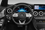 Car pictures of steering wheel view of a 2020 Mercedes Benz C-Class C300- 2 Door Convertible Steering Wheel