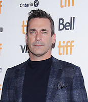 """TORONTO, ONTARIO - SEPTEMBER 08: Jon Hamm attends """"The Report"""" premiere during the 2019 Toronto International Film Festival at Winter Garden Theatre on September 08, 2019 in Toronto, Canada. Photo: <br /> CAP/MPI/IS/PICJER<br /> ©PICJER/IS/MPI/Capital Pictures"""