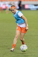 Houston, TX - Sunday Sept. 25, 2016: Janine Beckie prior to a regular season National Women's Soccer League (NWSL) match between the Houston Dash and the Seattle Reign FC at BBVA Compass Stadium.